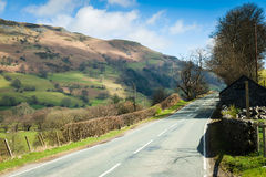 Road through the North Wales countryside Royalty Free Stock Images