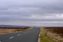 Road through the North Yorkshire Moors. Stock Image