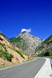 Road. In northern Albania, with blue sky Stock Photos