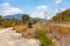 Road in Northern Cyprus Royalty Free Stock Images