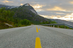 Road in northern Norway Royalty Free Stock Photo