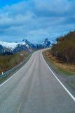 Road in Norvegian mountains Stock Photos