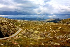 Road in Norway. Taken a beautiful norwegian summerday Stock Images