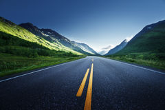 Road in Norway mountains Royalty Free Stock Images