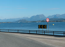 On the Road in Norway, near Alesund Royalty Free Stock Image