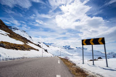 Road at the norway Royalty Free Stock Photos