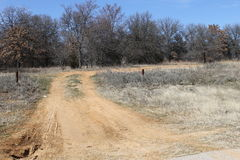 The Road Not Taken. A dead end road in the very center of Texas - I wonder who took it and if it once lead them where they wanted to go royalty free stock image