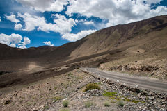 Road in Nubra Valley Royalty Free Stock Images