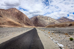Road in Nubra Valley Royalty Free Stock Photography