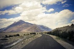 Road in Nubra valley, Ladakh, Kashmir. Stock Photography