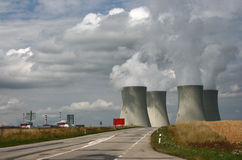 Road-nuclear power plant Royalty Free Stock Photography