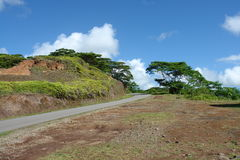 Road in Nuku Hiva. French Polynesia Royalty Free Stock Photography