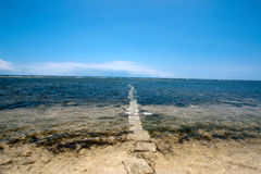 Road the ocean Royalty Free Stock Image