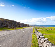 Road by the Ocean in Ireland Stock Images