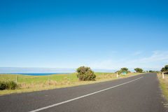 Road by the ocean Royalty Free Stock Images