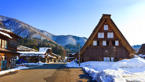 The road at Ogimachi Village, Shirakawago Royalty Free Stock Photo