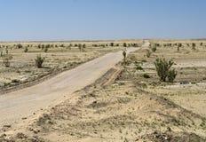 Road in Oman Desert Stock Photography