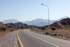 Road in Oman, Middle East Royalty Free Stock Photo