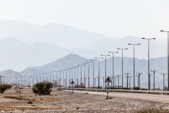 Road in Oman, Middle East Stock Photos