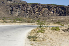 Road in Omani desert Royalty Free Stock Image