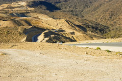 Road in Omani desert Royalty Free Stock Photography