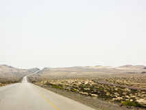 Road in Omani desert Royalty Free Stock Image