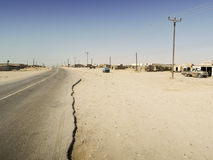 Road in Omani desert Stock Images