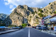 The road in the Omis stock photos