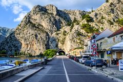 The road in the Omis stock images