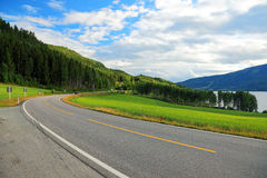 Road from Oslo. Royalty Free Stock Photography
