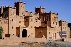 Kasbah Amridil in Morocco. The road from Ouarzazate to Erfoud is called `Road of the One Thousand of Kasbahs.` Just like it says, there are a lot of kasbahs stock image