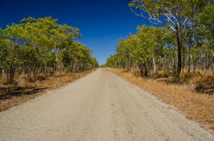 Road in the Outback, Qld. Australia Stock Photography