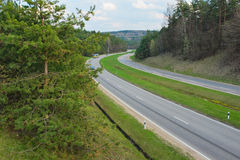 The road on the outskirts of Vilnius Royalty Free Stock Photography