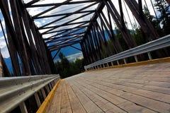Road over a bridge. Road over a bridge somewhere in British Columbia, Canada Stock Photo
