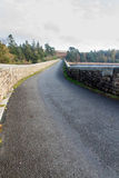 Road over dam of Venford Reservoir, Dartmoor Royalty Free Stock Photo