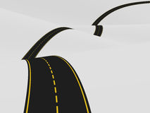 Road over the hills. Illustration of a curvy road over the hills Stock Photo