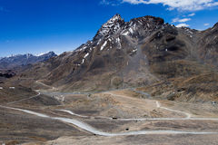 The road over the pass Stock Photography