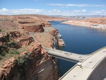 Road over Reservoir at Lake Powell Stock Image