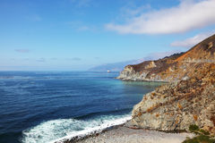 The road on Pacific coast Stock Photography