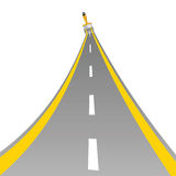 Road with paint brush art vector Stock Image