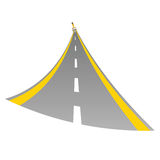 Road with paint brush color vector Royalty Free Stock Images