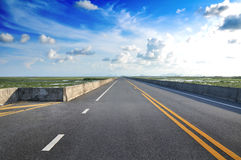 Road With Painted Double Yellow Line Royalty Free Stock Images