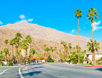 Road in Palm Springs Royalty Free Stock Photos