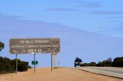 Road panel in Australia Stock Image
