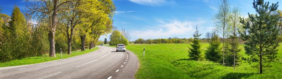 Free Road Panorama On Sunny Summer Day Stock Photos - 123580293