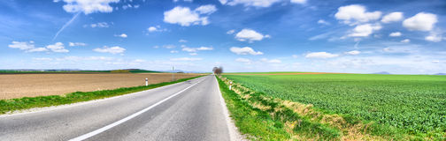 Road panorama, spring stock photos