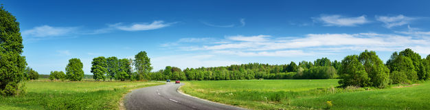 Road panorama on sunny summer day Stock Images