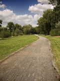 Road in the park. Path in a nature reserve in the province of La Rioja Stock Photo