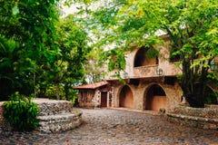 Road in park. Ancient village Altos de Chavon - Stock Photography