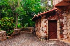 Road in park. Ancient village Altos de Chavon - Stock Images